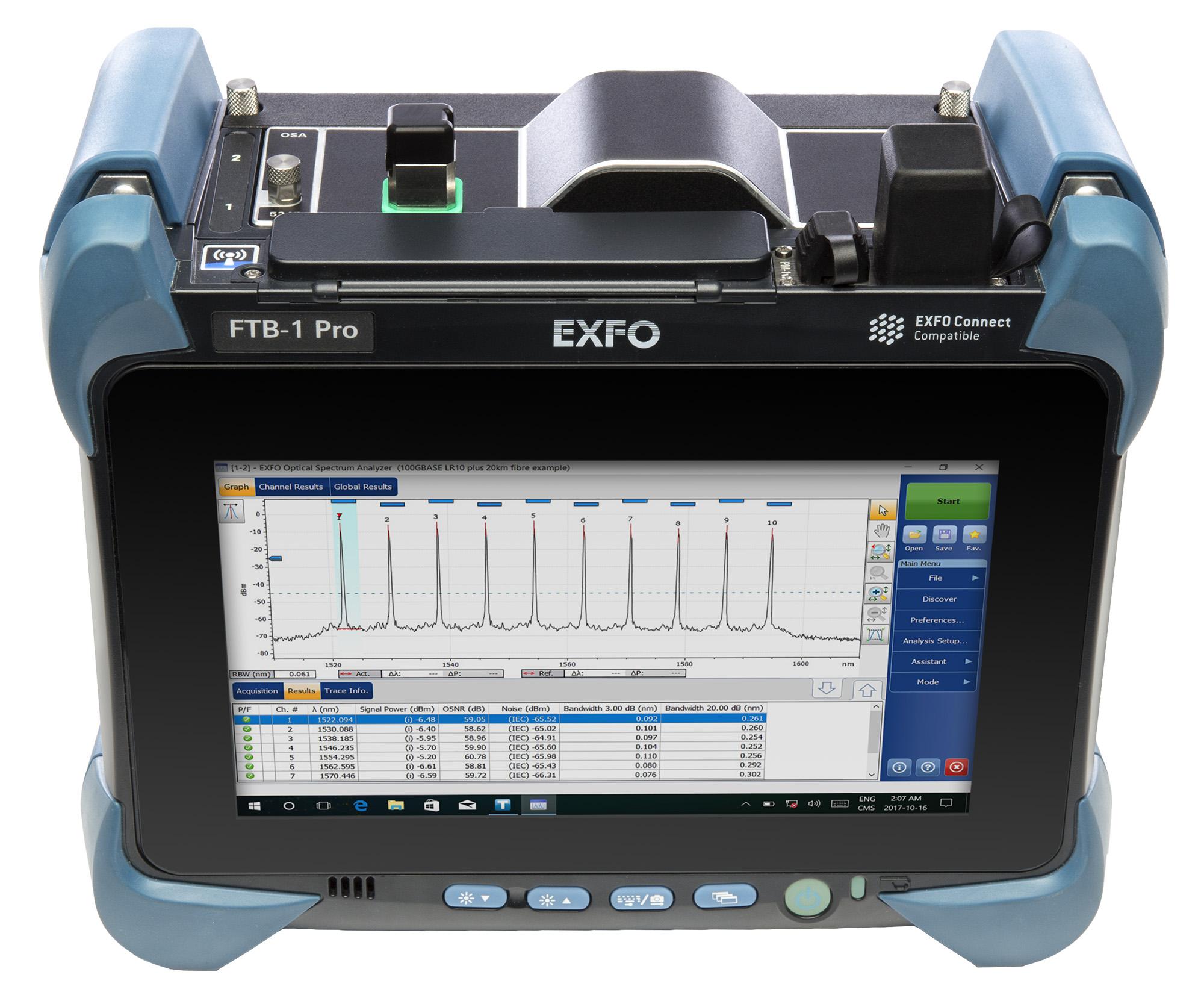 Portable optical spectrum analyzer   FTBx-5235   EXFO