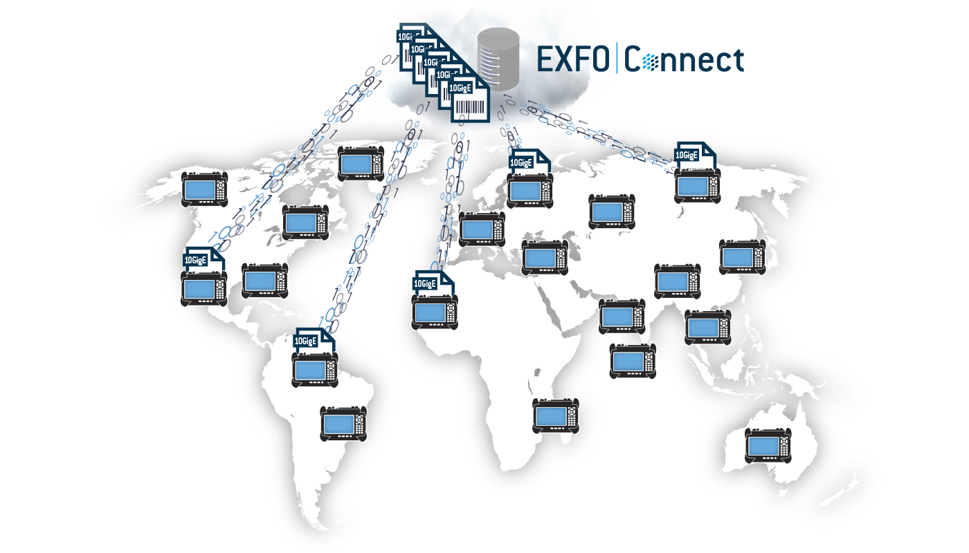EXFO Connect | Centralized Data | Cloud-Based Servers | Test