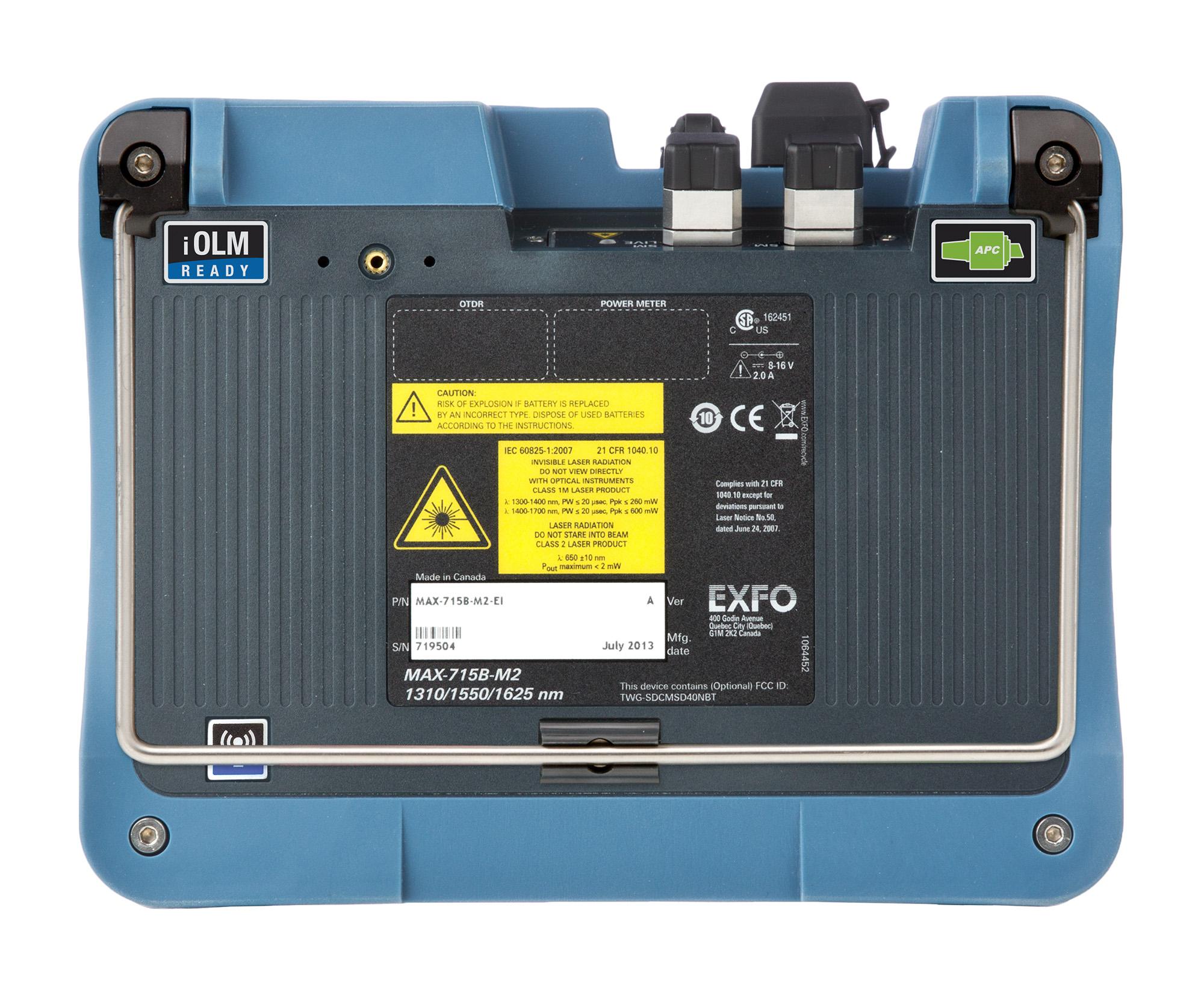 MaxTester 715B | Handheld OTDR | Singlemode | Fiber optic